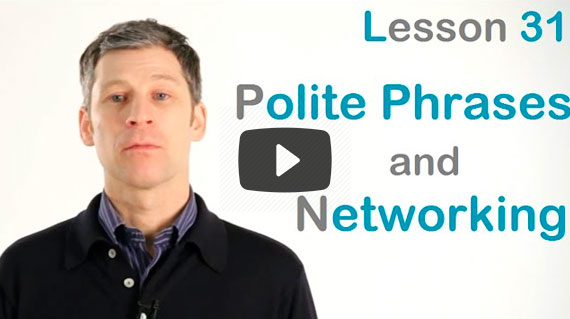 polite phrases and networking i-diom